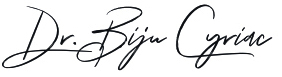 Signature of York dentist Biju Cyriac D D S
